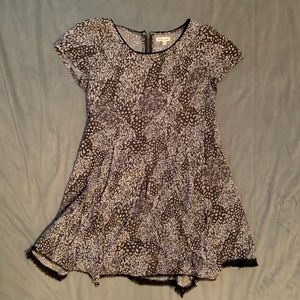 Anthro Silence+Noise Brown Leaf Dress EUC Size S